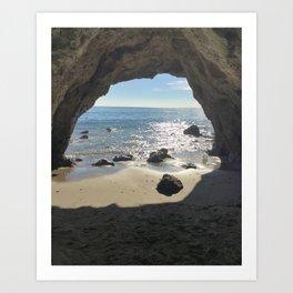 Malibu Cave Art Print