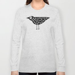 Black Bird Eats Too Many Flowers Long Sleeve T-shirt