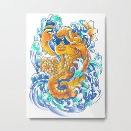Selfie-ish Fishtail-ish Metal Print