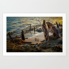 Stranded and Moody Art Print