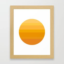 Minimal Sun Framed Art Print
