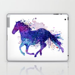 Running Horse Watercolor Silhouette Laptop & iPad Skin