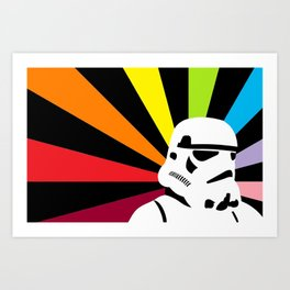 After the Storm... Rainbow Trooper Art Print