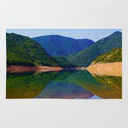 beautiful lake Rug