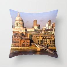 London In Art Throw Pillow