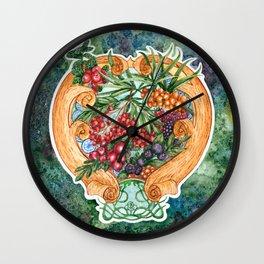 Art nouveau. Mors drink. Wall Clock