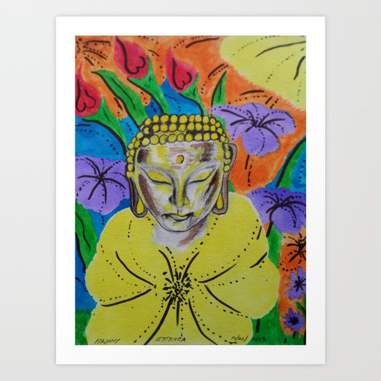 B-ONE OF PEACE AND LOVE -2 Art Print