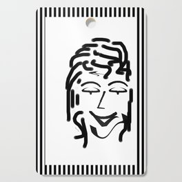 HAPPY LADY DESIGN PRINT PATTERN Cutting Board