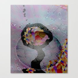 Space Flower Canvas Print
