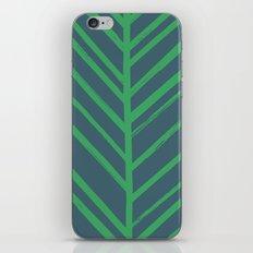 Painted Herringbone - in Emerald iPhone & iPod Skin
