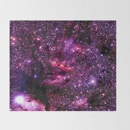 galaXY Pink & Purple Stars Throw Blanket