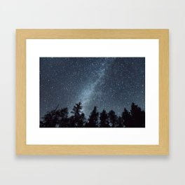 Milky Way in the Woods | Nature and Landscape Photography Framed Art Print