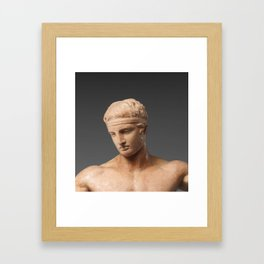 Hellenistic youth Framed Art Print
