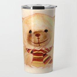 Cuddly Bear Watercolor Travel Mug