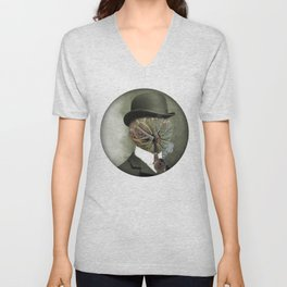 Sir Custard Bowler Unisex V-Neck