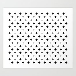 Black Swiss Cross Art Print