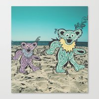 grateful dead Canvas Prints featuring Grateful Dead Beach Cruise by Charlotte hills