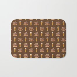 Burgers and Beer Bath Mat