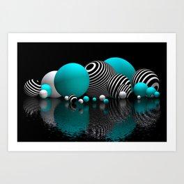 pebble bed -turquoise- Kunstdrucke