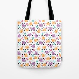 Freely Birds Flying - Fly Away Version 2 - Denim Dots Color Tote Bag