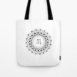 Scorpio Zodiac Mandala Tote Bag