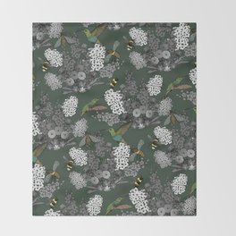 Hummingbirds and Bees (don't let them fade away) Throw Blanket