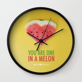 You are One in a Melon Wall Clock