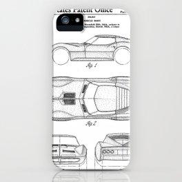 Classic Car Patent - American Car Art - Black And White iPhone Case