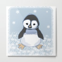 Frosty pinguin Metal Print