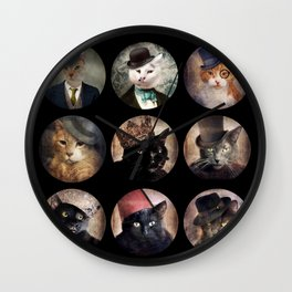 Cats in the Hats Collection Wall Clock