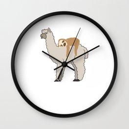 Cute & Funny Sleepy Sloth & Llama Wall Clock
