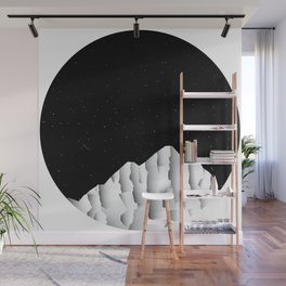 Nightly Mountains Wall Mural