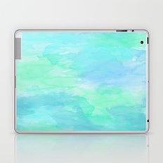 Blue Green Watercolor Texture Laptop & iPad Skin