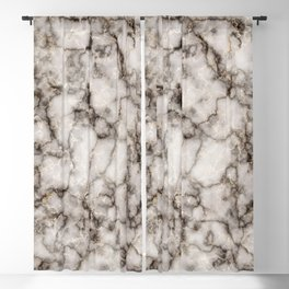 Bronze and Gold Veined Faux Marble Repeat Blackout Curtain
