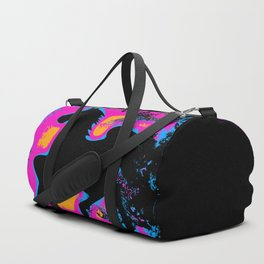 Colorful Western-style Horse Silhouette Duffle Bag