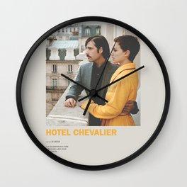 Hotel Chevalier Minimal Movie Poster No 01 Wall Clock