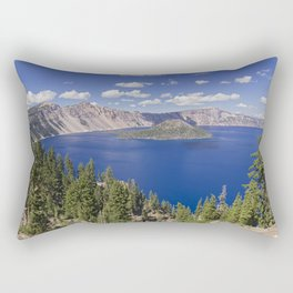 Wizard Island in Crater Lake Rectangular Pillow