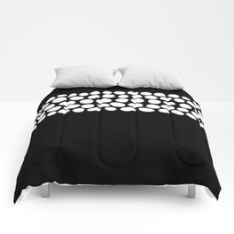 Soft White Pearls on Black Comforters
