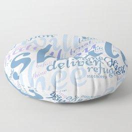 Psalm 91 Word Art Floor Pillow