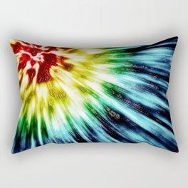 Abstract Dark Tie Dye Rectangular Pillow