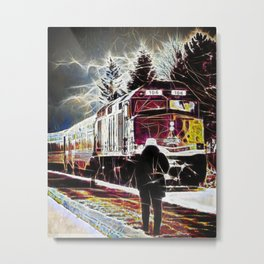 Agawa Canyon Snow Train Metal Print