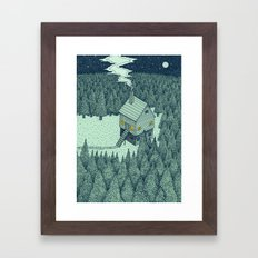 'The Middle Of Nowhere' Colour Framed Art Print