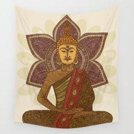 Sitting Buddha Wall Tapestry