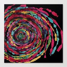 pattern - spaghettis spiral Canvas Print