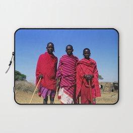 3 African Men from the Maasai Mara Laptop Sleeve