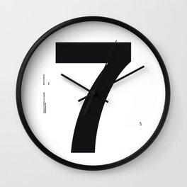 Nº7. Helvetica Posters by empatía® Wall Clock