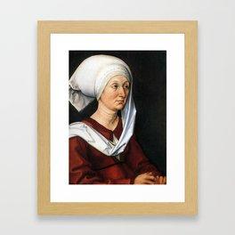 Portrait of Barbara by Albrecht Dürer Framed Art Print