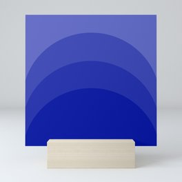 Four Shades of Blue Curved Mini Art Print