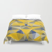 yellow pattern Duvet Covers featuring Yellow by jbjart