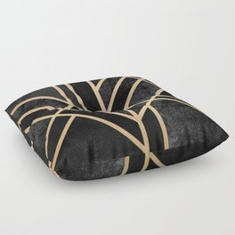 Art Deco Black Floor Pillow
